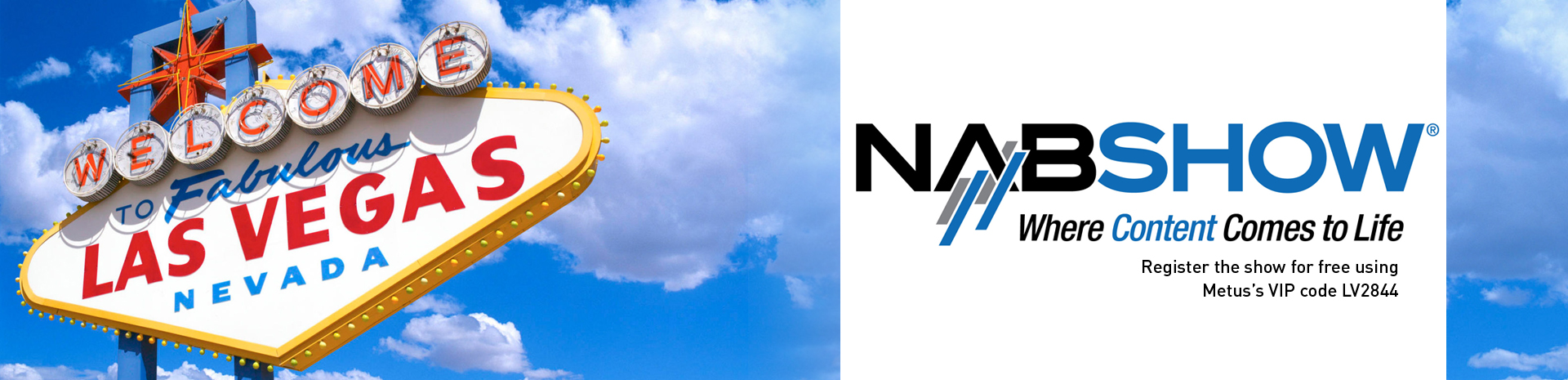 Join us at NAB Show, 13-16 April 2015 Las Vegas!